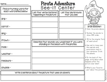EZ Prep See-it Centers - Pirate Adventure & Undersea Fantasy