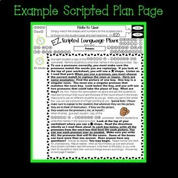Pronouns - Sub Plans - Second Grade - Scripted Lessons