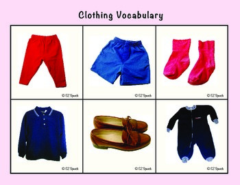 EZ Speech Vocabulary Boards- Clothing