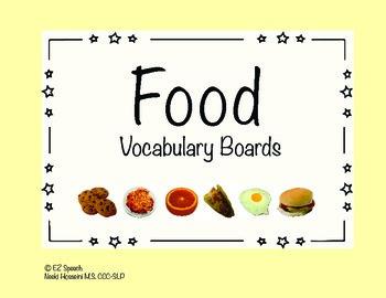 EZ Speech Vocabulary Boards- Foods