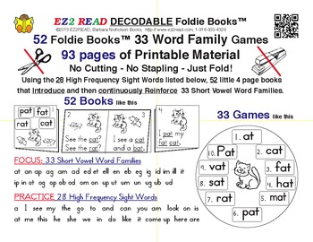EZ2READ DECODABLE FOLDIE BOOKS®