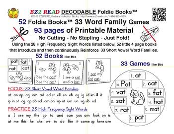 EZ2READ DECODABLE FOLDIE BOOKS®
