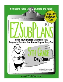 EZSubPlans: Emergency Absence Plans, Fifth Grade, Day 1