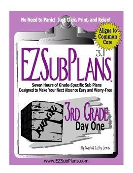 EZSubPlans: Emergency Absence Plans, Third Grade, Day 1