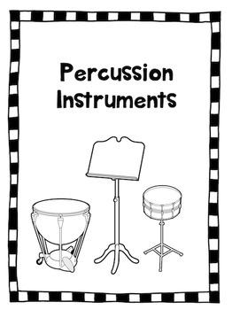 Percussion Instruments Lap Book