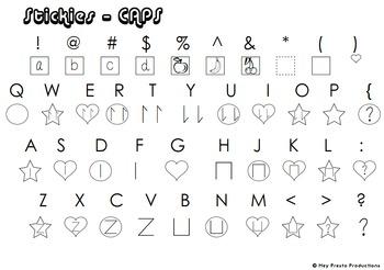 Eazy Stix - Stickies - stick notation font