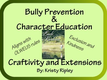 Each Kindness Character Education Craftivity and Extension