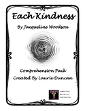 Each Kindness Comprehension Pack