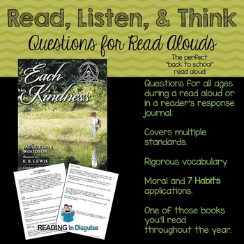 Each Kindness Higher Order Thinking Questions