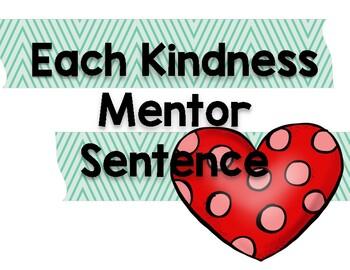Each Kindness Mentor Sentence