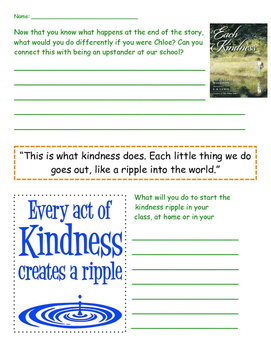 Each Kindness Worksheet