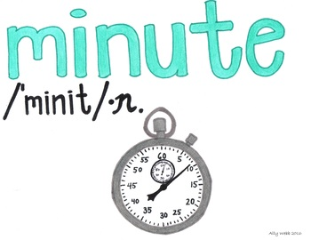 Each Minute Cartoon--Printable Montessori Homograph Card