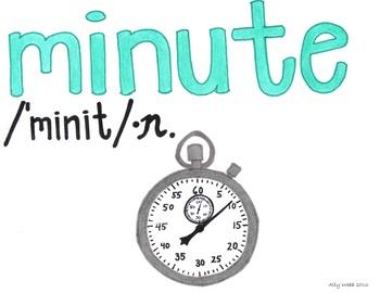 Each Minute Cartoon--Printable Montessori Homograph Card
