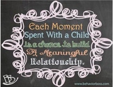 Each Moment Spent with a Child Chalkboard Printable