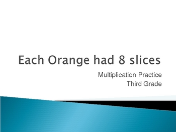 Each Orange Had 8 Slice Extension Acivity Powerpoint