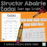 Éadaí - Sentence Structure - Gearr agus Scríobh