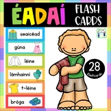 Éadaí flashcards with pictures - Gaeilge - Clothes