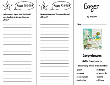Eager Trifold - Storytown 6th Grade Unit 6 Week 3