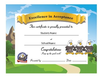Eagle Award Certificates -Behavior