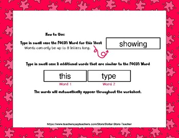 Eagle - Editable Word Worksheet w/ Theme Focus