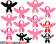 Eagle Flower Breast Cancer birds Feathers clipart wirl Pro