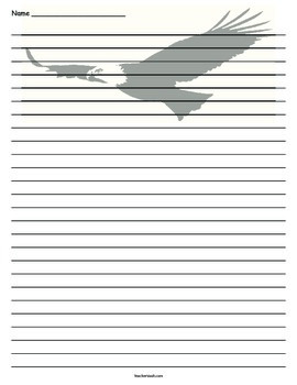 Eagle Lined Paper