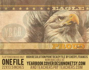 Eagle Proud 2017 Yearbook Cover Design