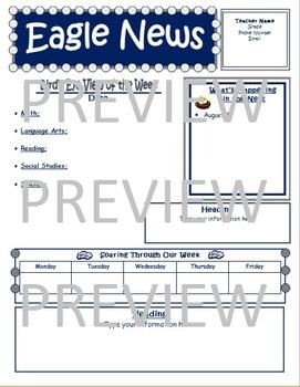 Eagle Theme Newsletter Template (EDITABLE)
