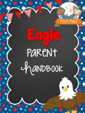 Eagle Theme Parent Handbook Back-to-School {personalize it}