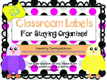 Eagle Themed Classroom Labels by Teaching Ambrosia
