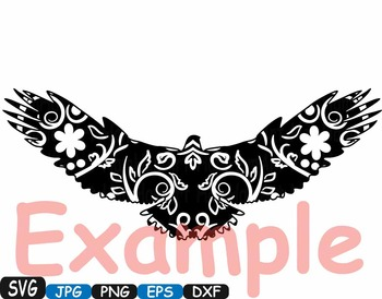 Eagle Woodland Silhouette school Clipart zoo circus flower fly wood wild 368s