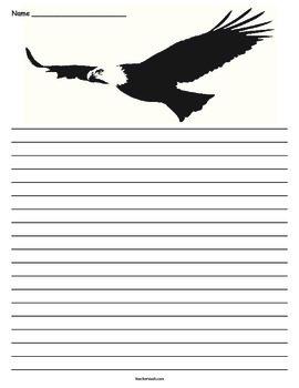 Eagle Writing Page