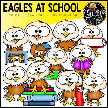 Eagles At School Clip Art Set {Educlips Clipart}