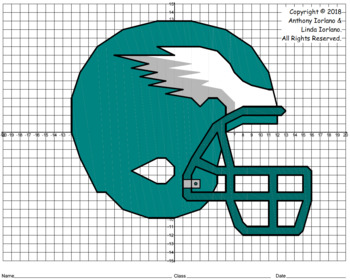 Eagles Helmet Mystery Picture (4-Quadrants)