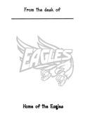 Eagles mascot memo sheet