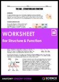 Ear Anatomy - Structure and Function of Hearing (HS-LS1-A)