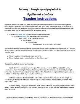 Ear Training #1: Major/Minor in Root Position