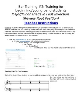 Ear Training #2: Major/Minor Chords in Root/First Inversion (Word)