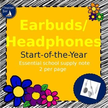 Earbuds/Headphones Needed