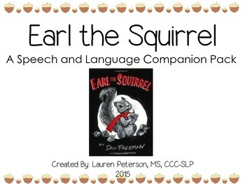 Earl the Squirrel Speech and Language Companion Pack