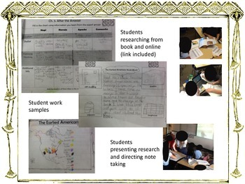 Earliest Americans Third Grade Core Knowledge Bundle with work samples