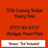 Early 20th Century British Poetry Unit