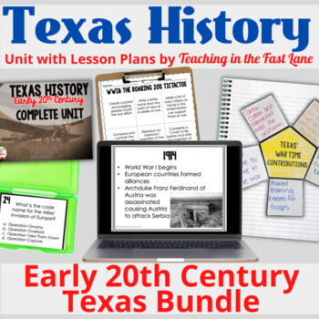 Early 20th Century: WWI, the Great Depression, and WWII BUNDLE with Lesson Plans