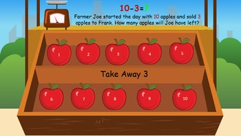 Early Addition & Subtraction- Animated Word Problems & Game