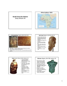 Early African Art Notes