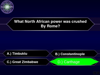 Early African History - Who Wants to be a Millionaire Review Game
