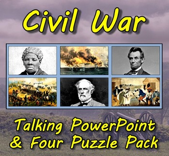 Early America & Civil War PowerPoint (3) and Puzzle (4) Combo