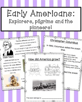 Early America: Explorers, Pilgrims and Pioneers