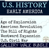 Early America Activities Gallery Walk Bundle for US History