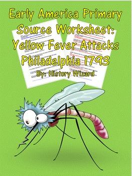 Early America Primary Source Worksheet: Yellow Fever Attacks Philadelphia 1793